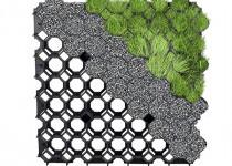 Gyeprács műanyag, fekete, 50x50x4 cm