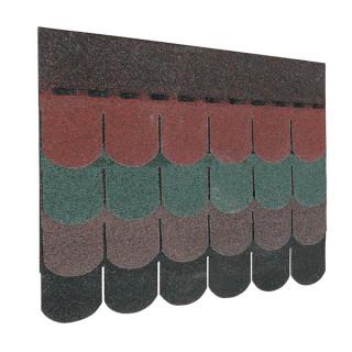 Guttatec TOP hódfarkú zöld, fekete, barna, vörös  (3 m<sup>2</sup>/csom.)
