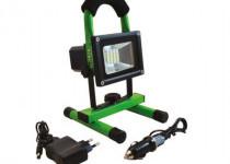 Hordozható akkumulátoros Led fényvetőmvészjelzővel+USB töltő